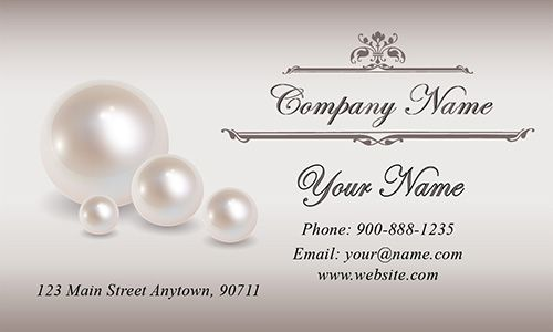Pearl Wedding Business Card Design Business Card Ideas - Wedding business card template