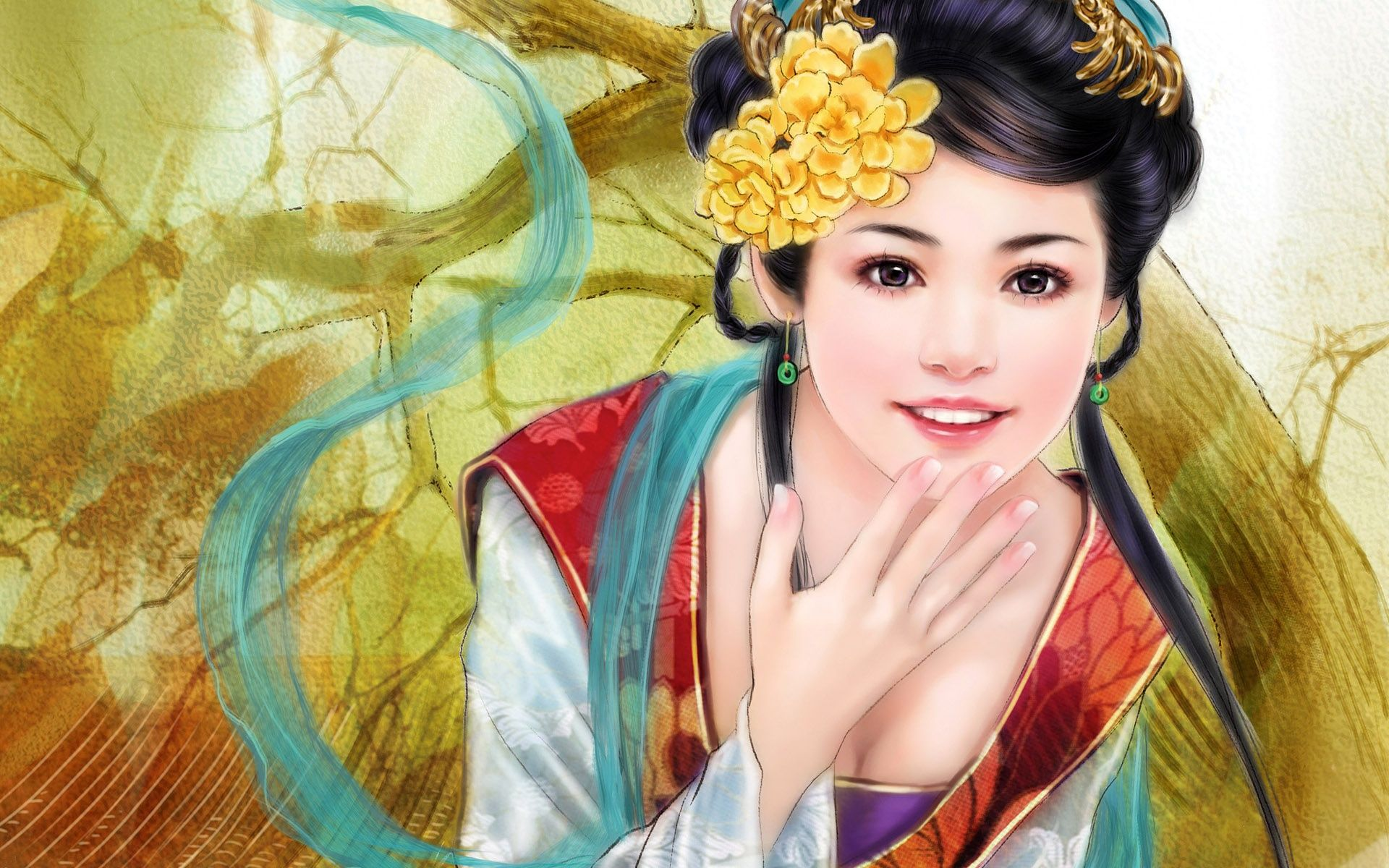 Painting Pictures Images Photos Painting Of Girl Asian Art Fantasy Paintings