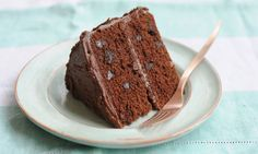 Double chocolate Victoria sandwich. Photograph: Jill Mead for the Guardian - got to try this; like the idea of a bit of crunch with the chocolate chips