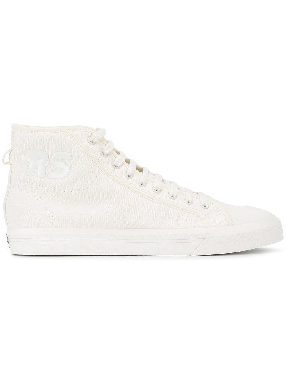 ADIDAS BY RAF SIMONS Spirit High-Top Sneakers. #adidasbyrafsimons #shoes #