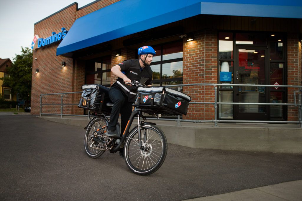 Domino S Hopes E Bikes Will Give Them A Delivery Advantage Over