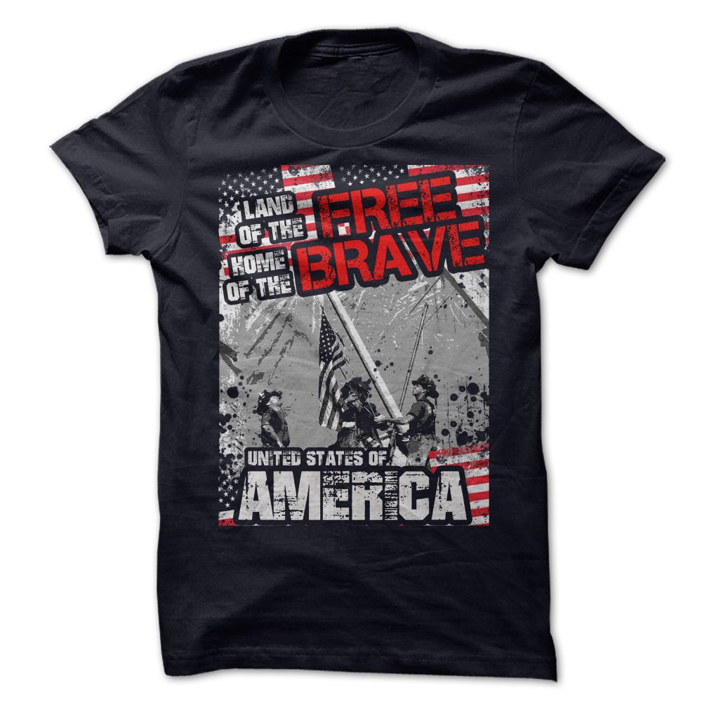 FLAG DAY LAND OF THE FREE, HOME OF THE BRAVE T-Shirts, Hoodies. CHECK PRICE ==►…