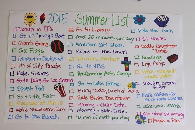 The Larson Lingo: Our 2015 Summer List