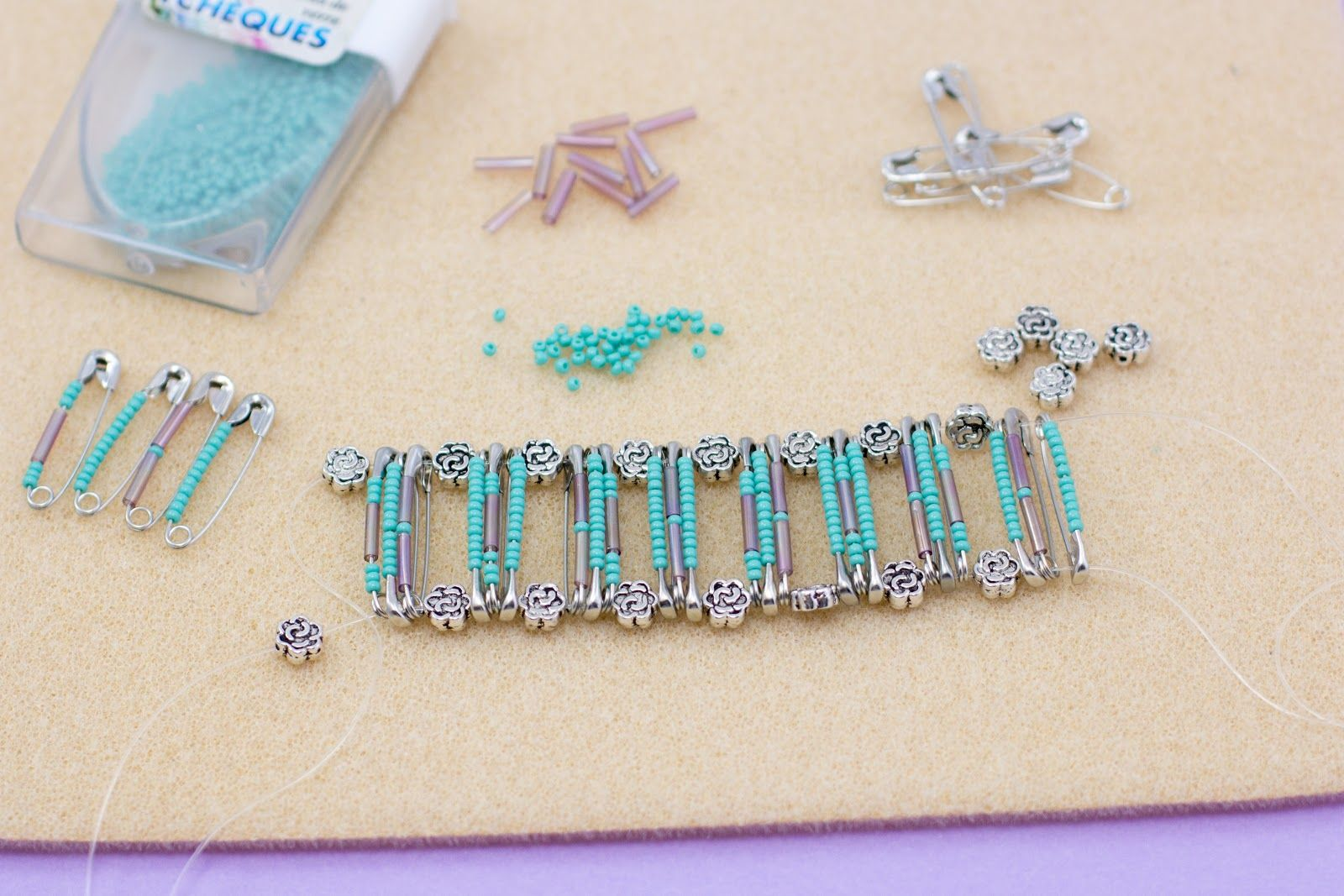 My Favourite Things Friends DIY Safety Pin Bracelet