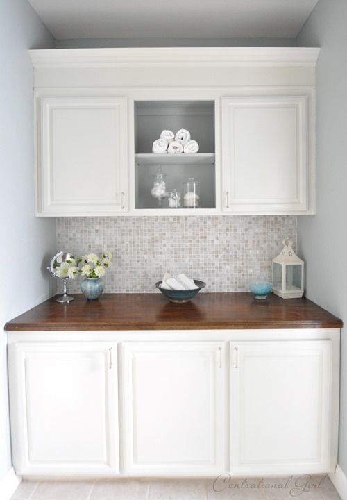 Photo of Painted Bathroom Cabinets | Centsational Style