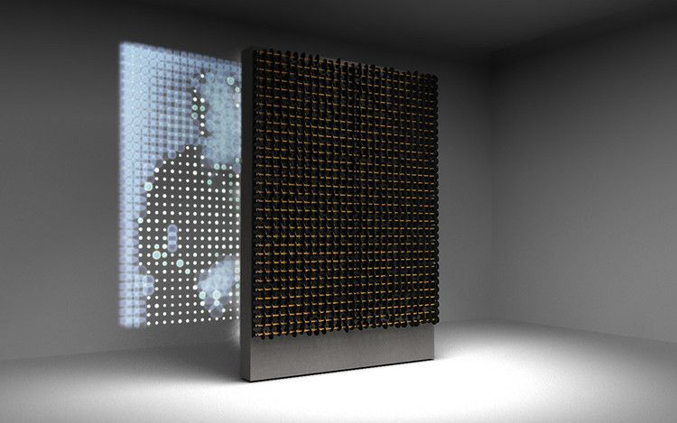 2 | A Projector Creates Pixelated Portraits, Using Crystal and LEDs | Co.Design: business + innovation + design