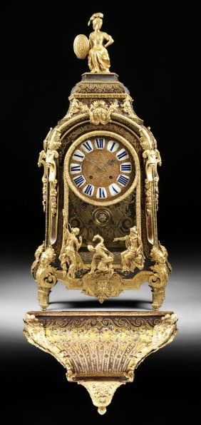 A LOUIS XIV LACQUERED BRONZE MOUNTED AND BRASS INLAID TORTOISESHELL