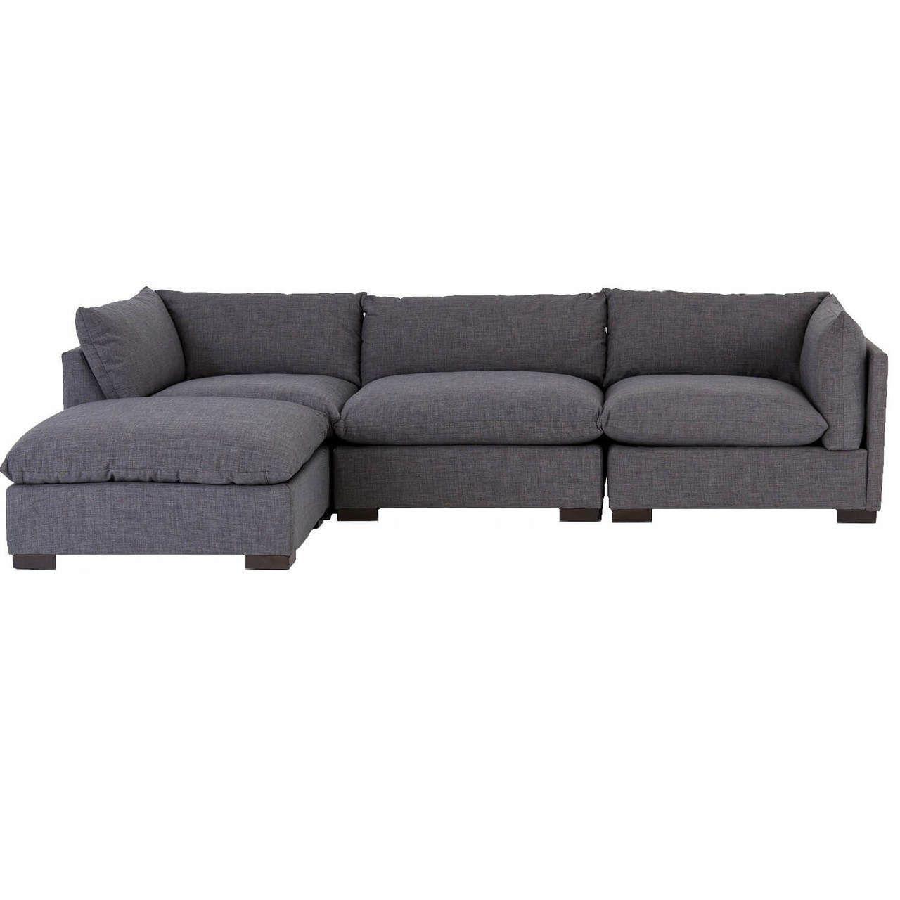Best Westworld Modern Gray 4 Piece Modular Lounge Sectional 640 x 480