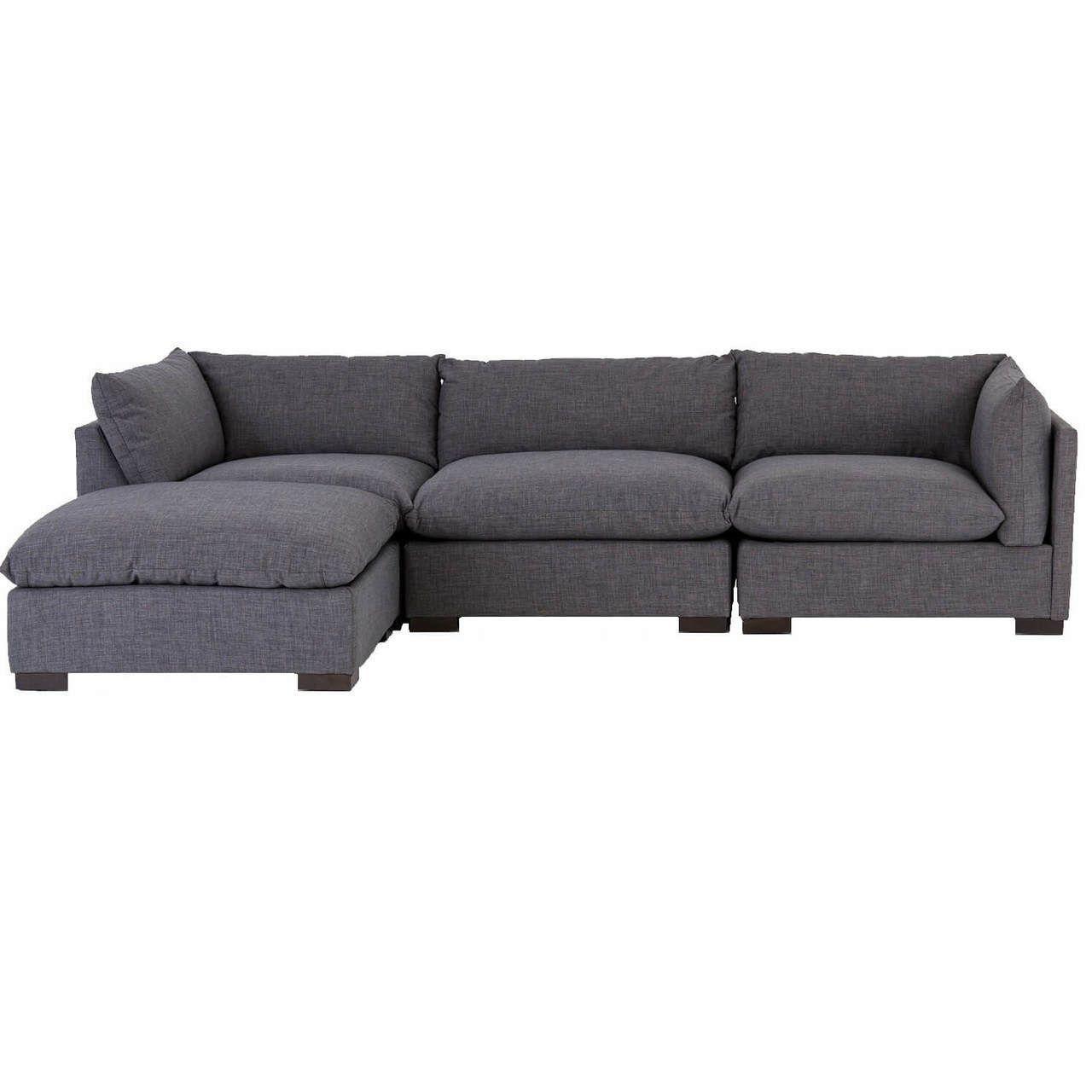 Westworld Modern Gray 4 Piece Modular Lounge Sectional Sofa Modular Lounges Sectional Sofa Sectional