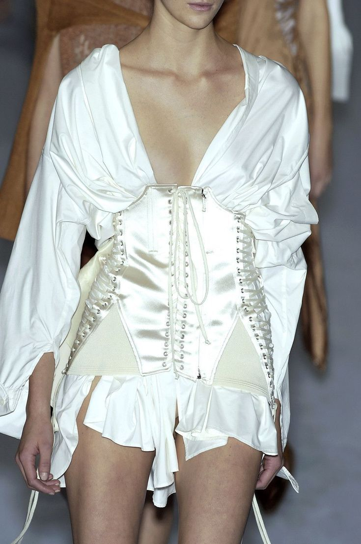 Jean Paul Gaultier at Paris Fashion Week Spring 2004 #runwaydetails