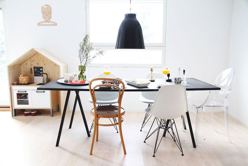 Loop Stand Svart 180 cm | Matbord, Matrum belysning, Dining