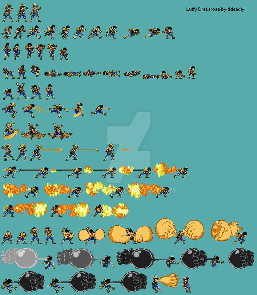403 Forbidden Luffy Pixel Art Characters Pixel Art