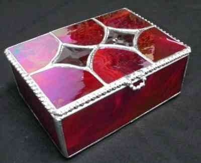 Diamond Lid box Stained Glass Boxes Pinterest Box Glass and