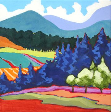 Contemporary Landscape Painting By Carolee Clark In 2020 Colorful Landscape Paintings Contemporary Landscape Painting Landscape Paintings
