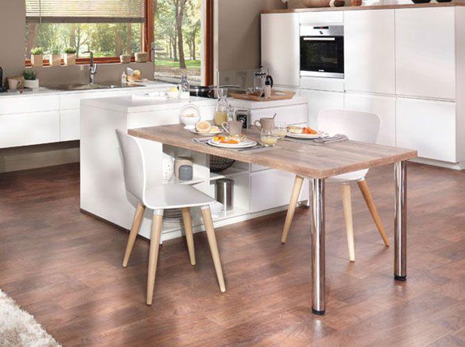 Nos Idees Decoration Pour La Cuisine Elle Decoration En 2020 Cuisines Deco Idee Decoration Cuisine Et Cuisine Blanche Et Bois