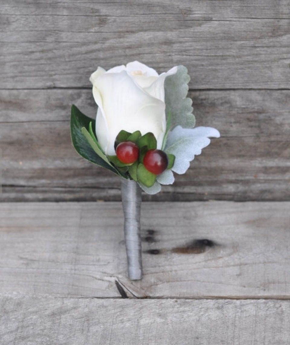 Wedding boutonniere made with silk flowers by hollys flower shoppe wedding boutonniere made with silk flowers by hollys flower shoppe on etsy mightylinksfo