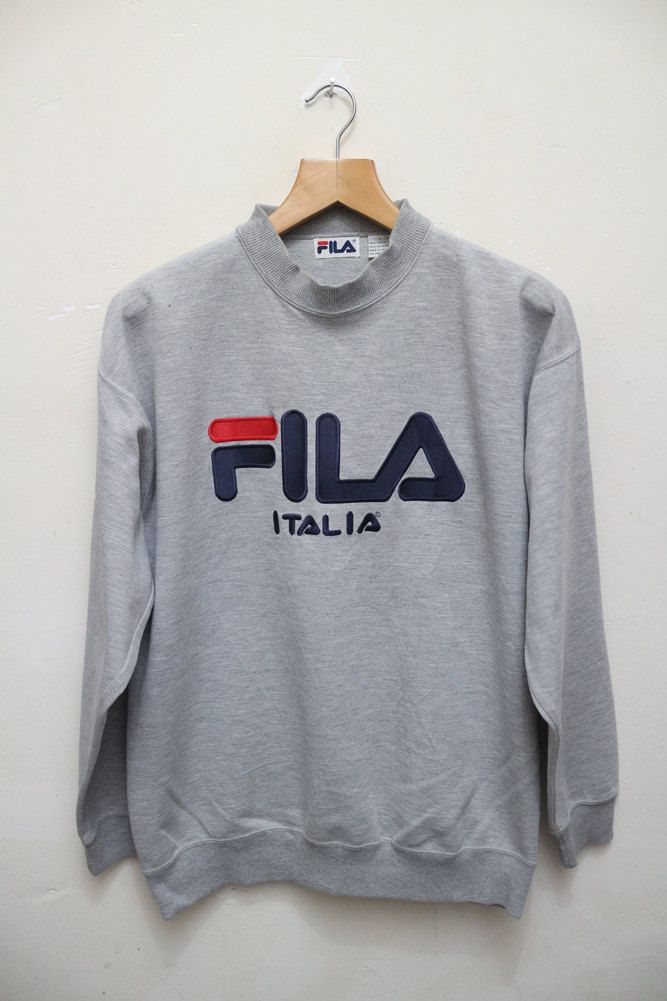 Vintage FILA Italia Hip Hop Sports Swag Streetwear Pullover ...