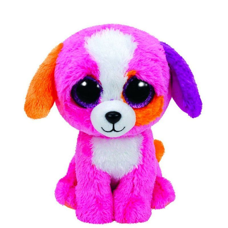 Original Ty Beanie Boos Big Eyes Plush Toy Doll Husky Cat Owl Unicorn TY  Baby Kids Gift 10-15 cm WJ159 f74ff57b7875
