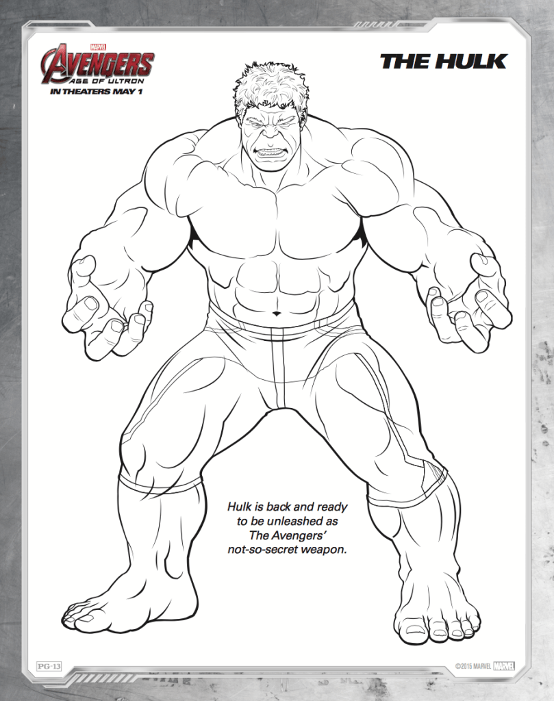 Free Printable Avengers Age Of Ultron Coloring Sheets Avengers Coloring Hulk Coloring Pages Superhero Coloring Pages
