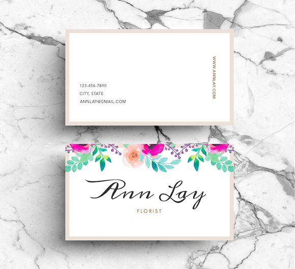 Watercolour Flower Business Card PSD by Emilyu0027s ART Boutique on - floral designer resume