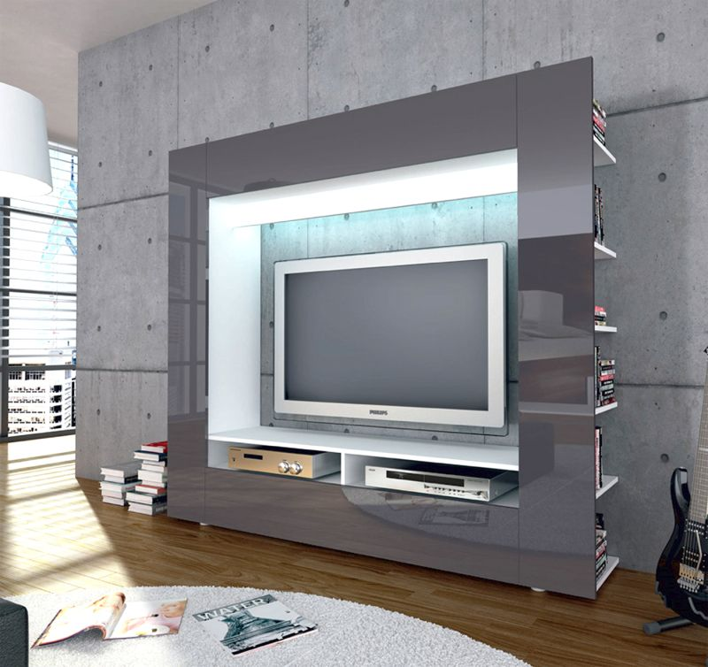 roller tv medienwand olli m bel wohnen online shop medienl sungen. Black Bedroom Furniture Sets. Home Design Ideas