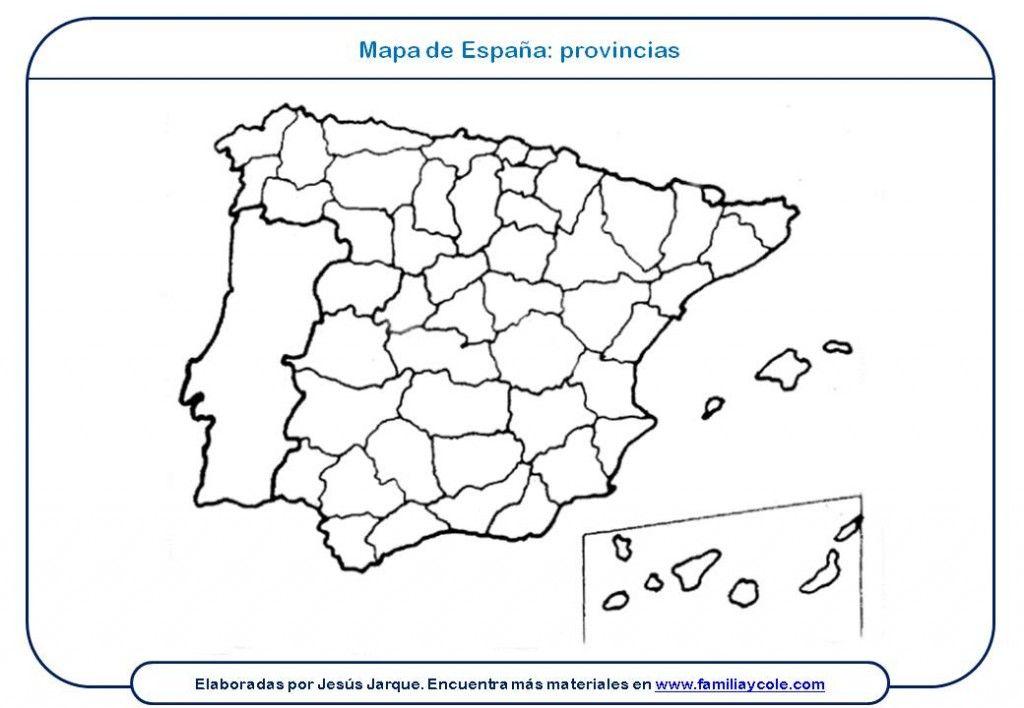 Mapa Flash Provincias España.Mapas Para Imprimir Espana Provincias Mapa De Espana