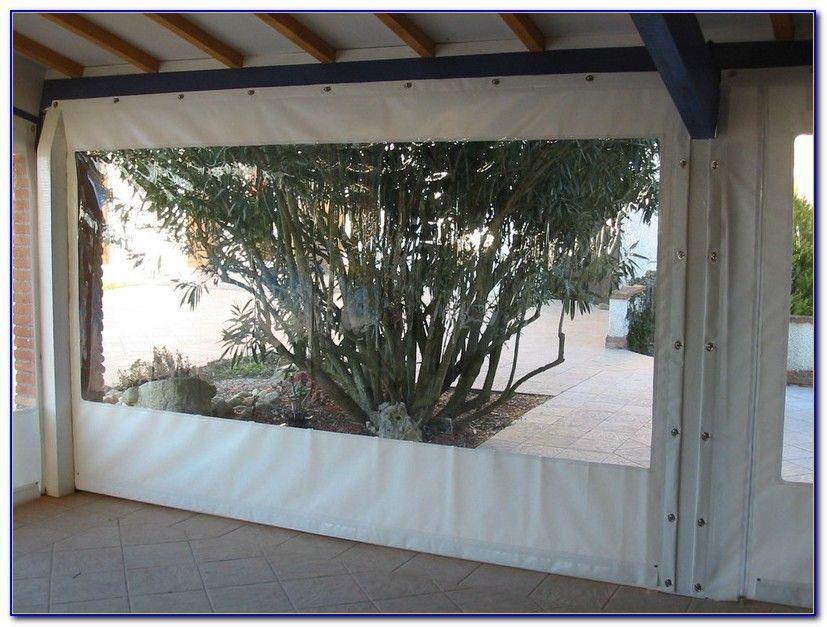 rideau plastique transparent pour