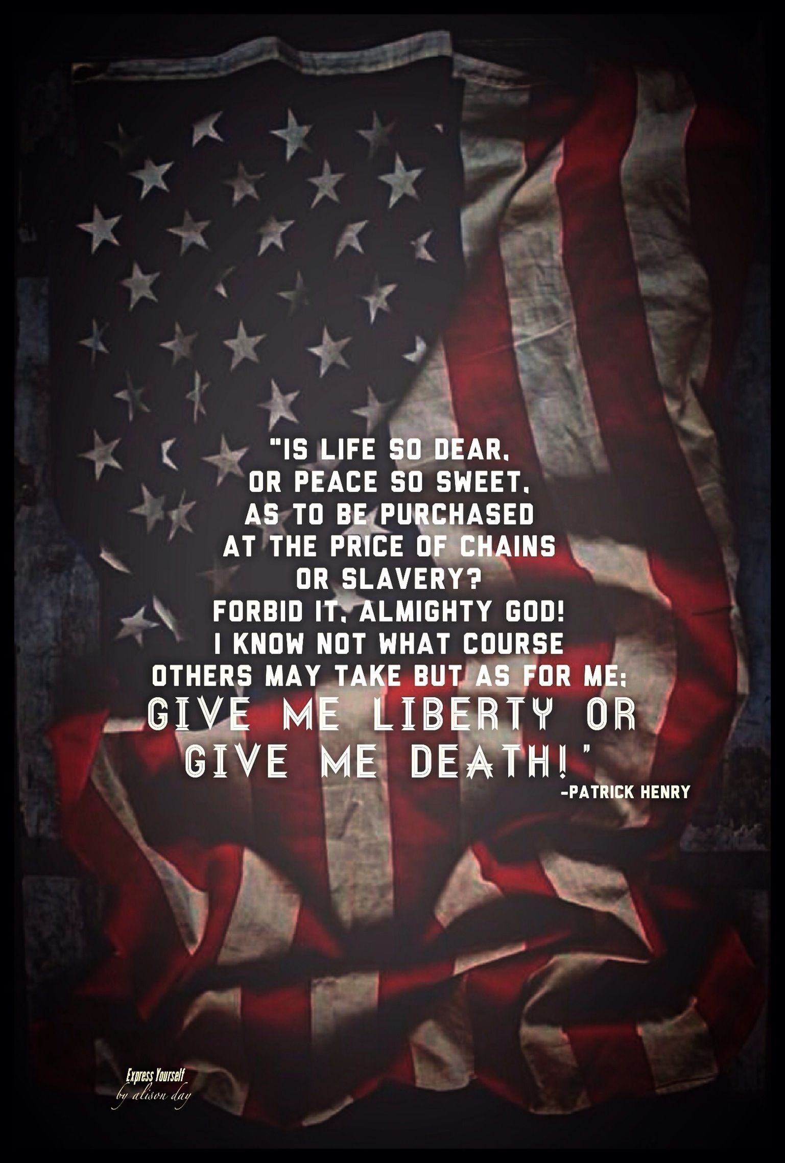 mobile apps fan on quotes liberty and death  patrick henry express yourself