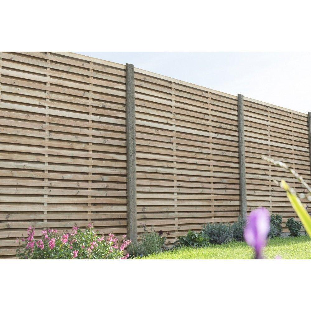Double Sided Slatted Fence Slatted Fence Panels Garden Fence Panels Fence Panels