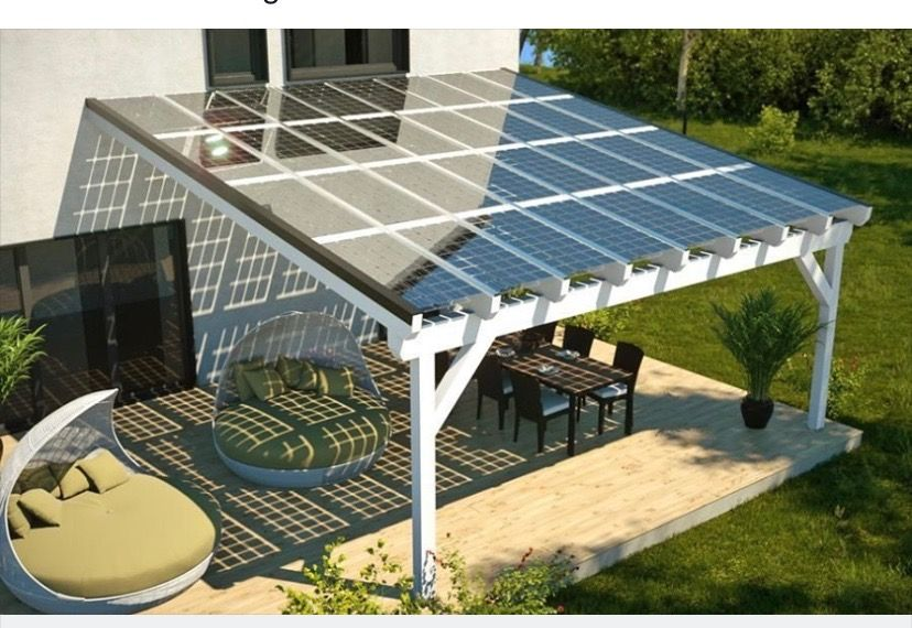 Great Idea For Solar Panel Placement Solar Patio Solar Pergola