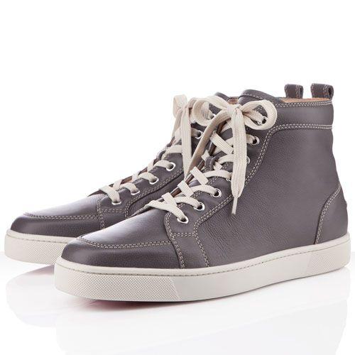 Noticeable & Discount Christian Louboutin Rantus Orlato Men's Sneakers Smoke Grey Outlet   Christian Louboutin Shoe Sale Store