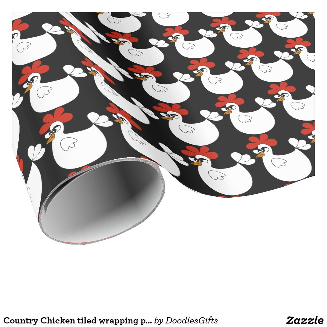 Country Chicken tiled wrapping paper