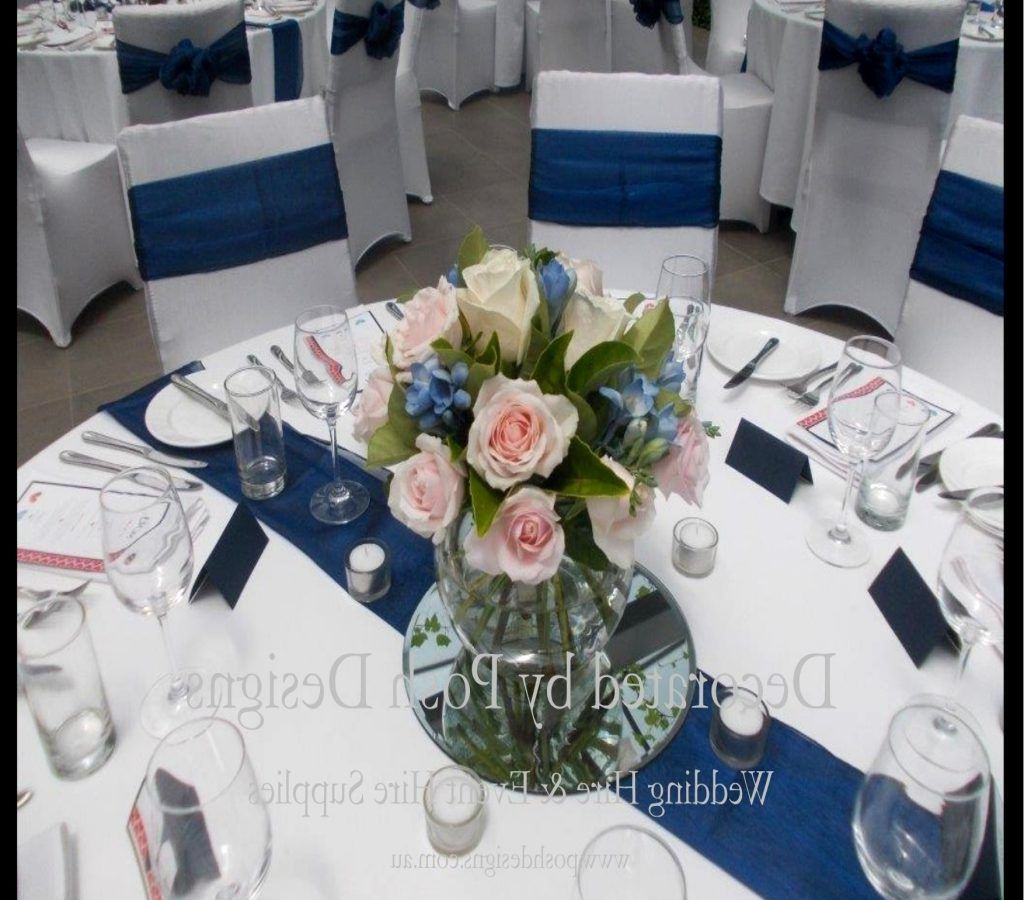 Wedding decorations royal blue  Blue Wedding Table Decorations Royal   Wedding  Pinterest