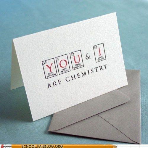 Chemistry Love Cards Diy Gifts Nerds Letterpress Cards Diy Gifts
