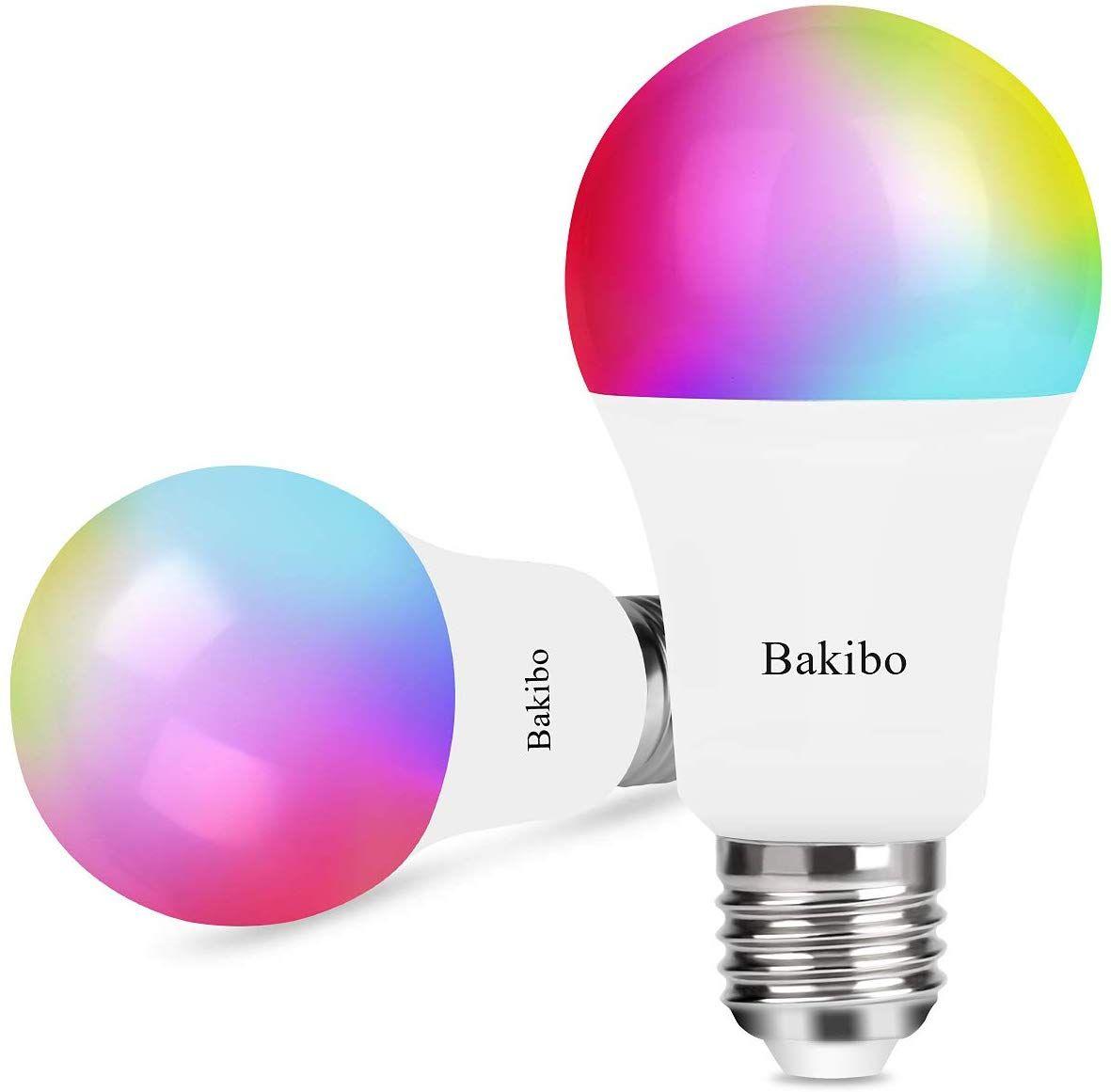 Bakibo Lampadina Wifi Intelligente Led Smart Dimmerabile 9w 1000lm E27 Multicolore Lampadina 2 Pcs In 2020 Led Lampe Led Gluhbirnen Led