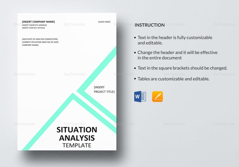 Situation Analysis Template Analysis Templates Pinterest - work contract template