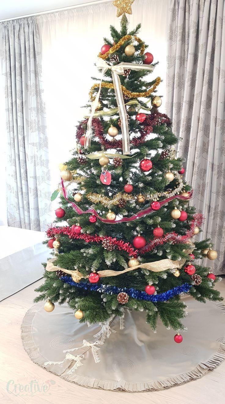 Diy Tree Skirt Diy christmas tree skirt, Christmas tree