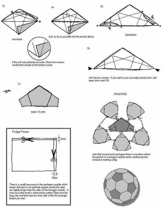 origami soccer ball 4