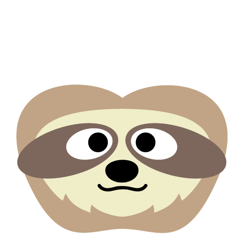 Printable Sloth Mask (With images) | Printable animal masks ...