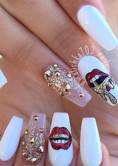 Silver Glitter Acrylic Nails
