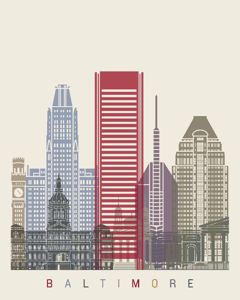 Baltimore Maryland Vereinigte Staaten Von Amerika United States Of America Usa Ilustracion Del Edificio Edificios