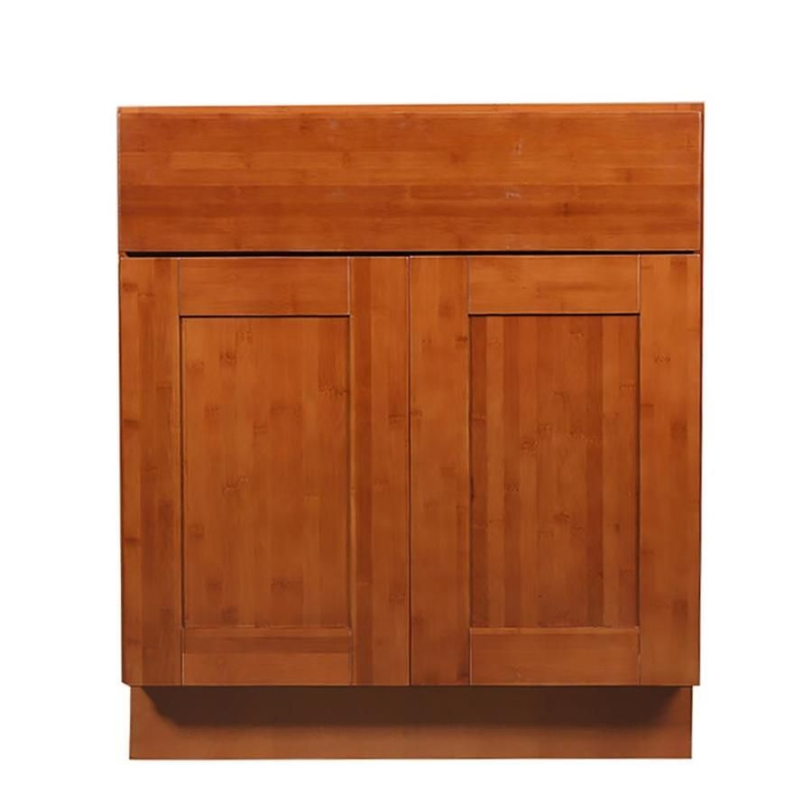 Arcade Green 24 In W X 34 5 In H X 24 In D Bamboo Door And Drawer Base Stock Cabinet At Lowes Com Kitch In 2020 Stock Cabinets Bamboo Kitchen Cabinets Bamboo Cabinets