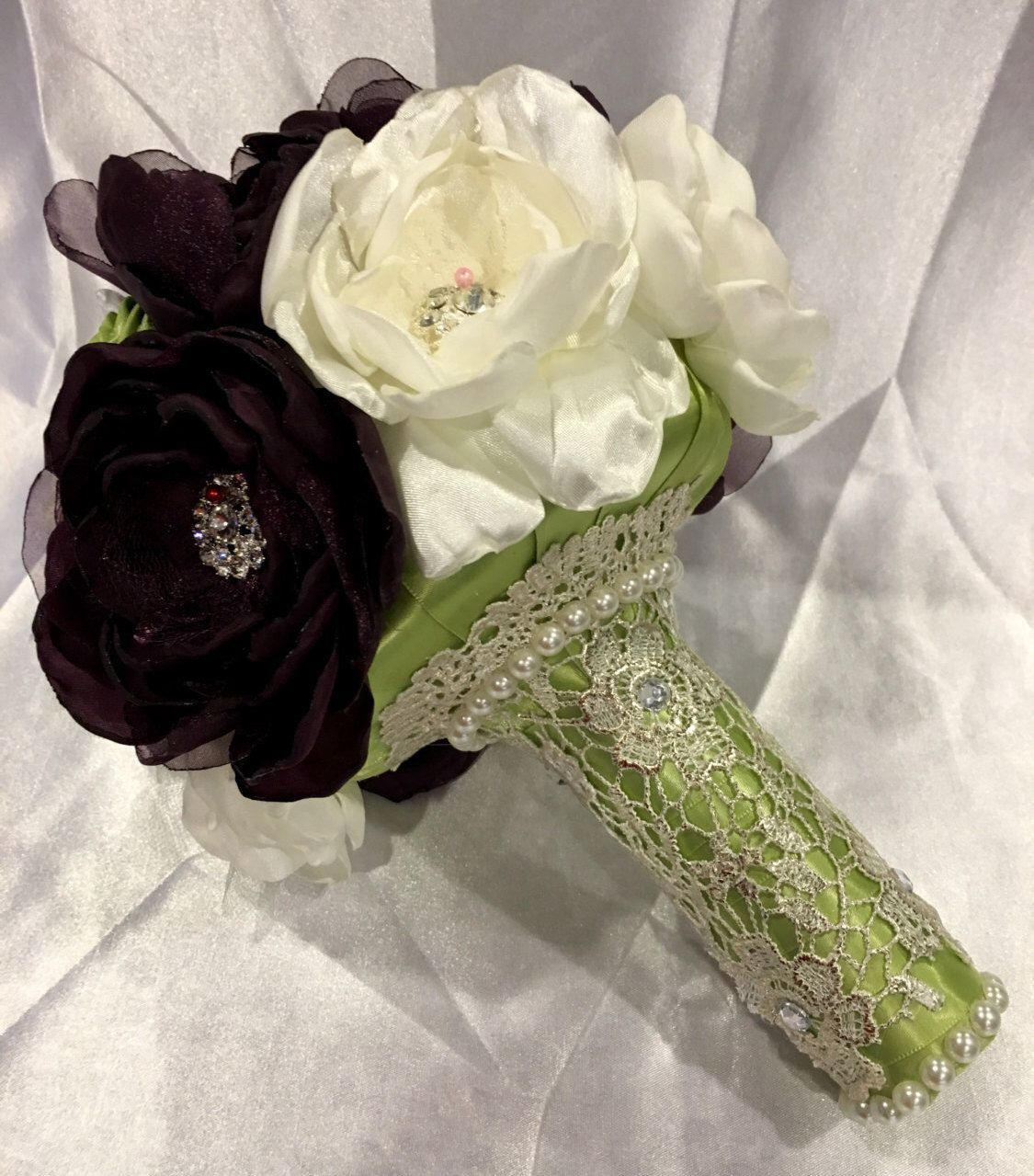 Wedding bouquet bridal bouquet bridesmaid bouquet fabric flowers ...