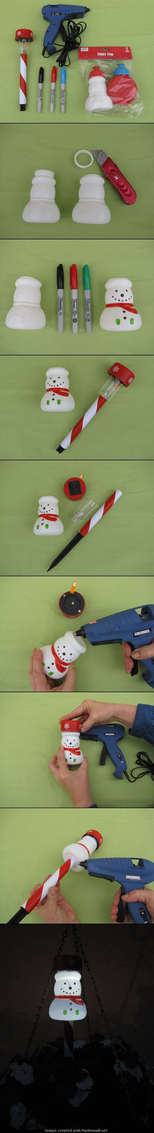 Snowman Solar Stakes Lights Make Your Own Solar Stake