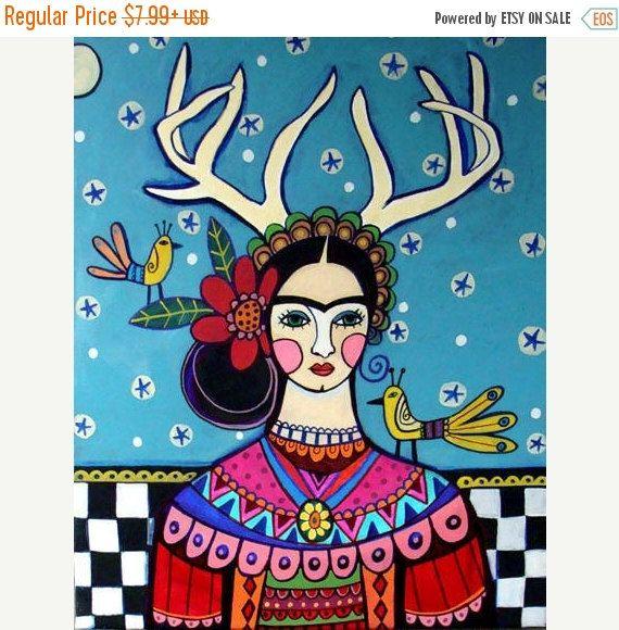Frida Deer Painting