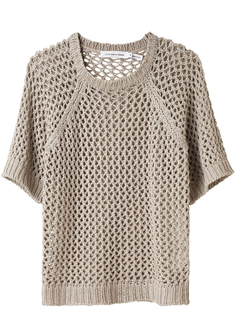 Acan Open Knit Pullover by Étoile Isabel Marant: boxy with elbow length sleeves--better than a sweatshirt!