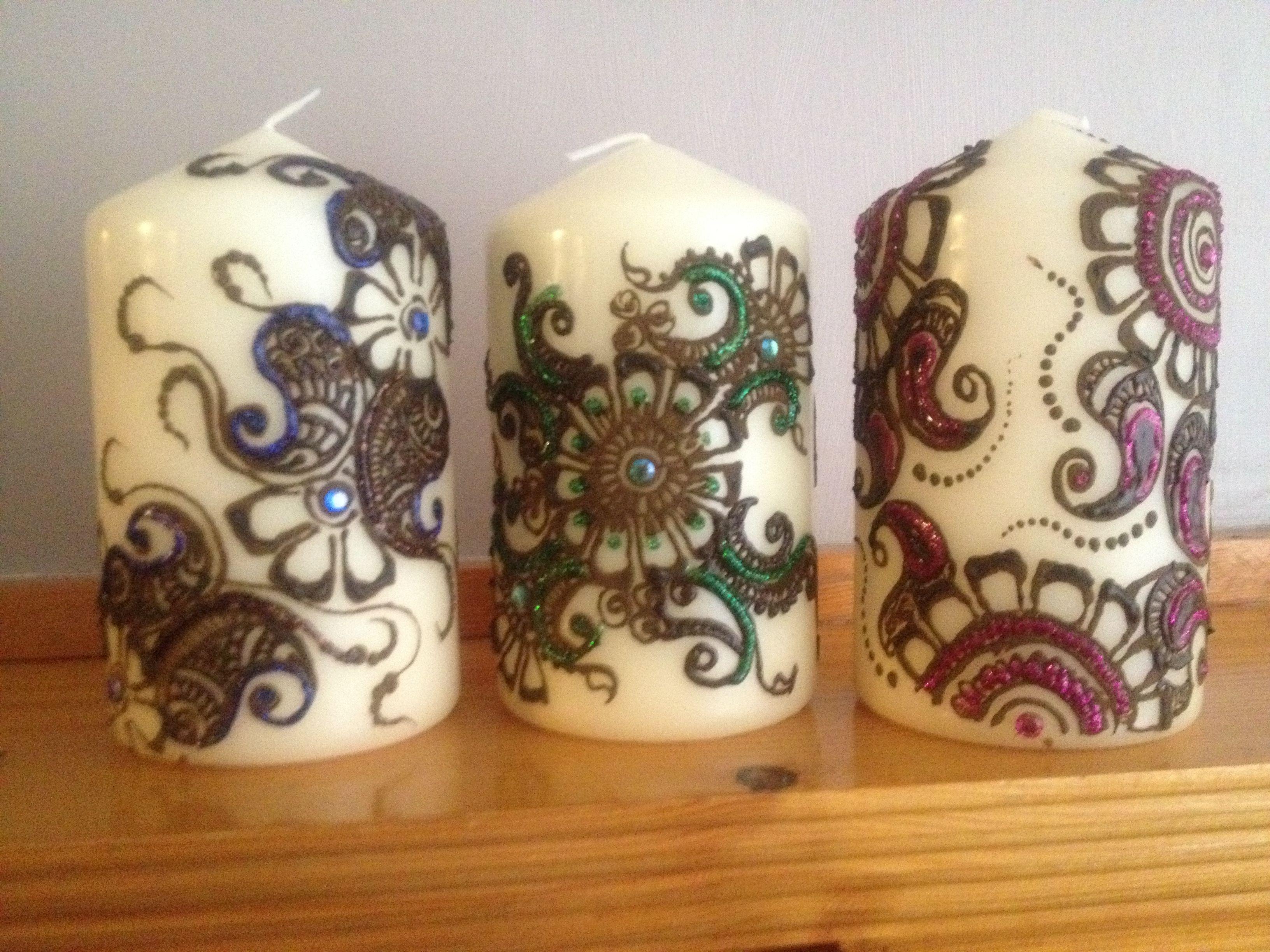 Mehndi Henna Candles : Henna mehndi candles customised available to order