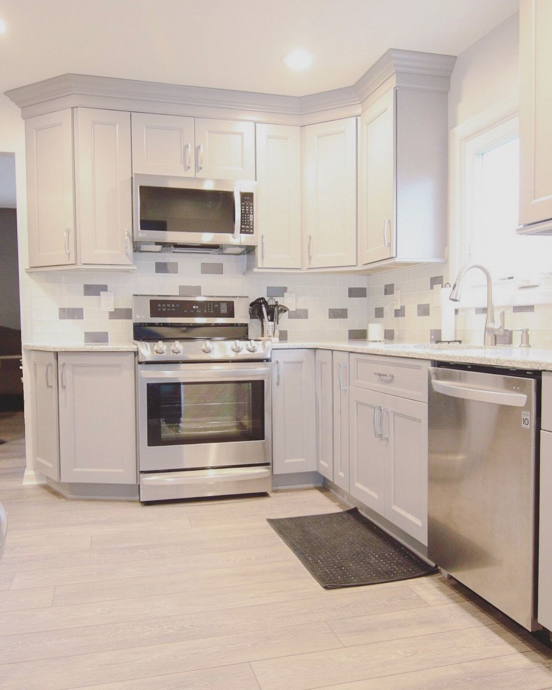 Kitchen Cabinet 24x24 Gray And White By Design? Oh Yes! We Love Our Sleek