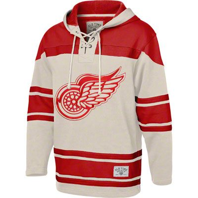 pretty nice b325f 30af4 Detroit Red Wings Old Time Hockey Vintage Lace Up Pullover ...