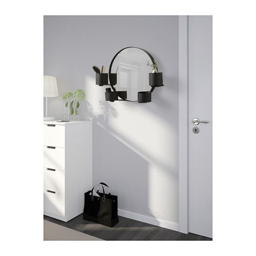 Photo Of IKEA S LLSKAP Mirror If you want to decorate the mirror with plants you can use the removable saucers in the cups Safety film reduces damage if glass